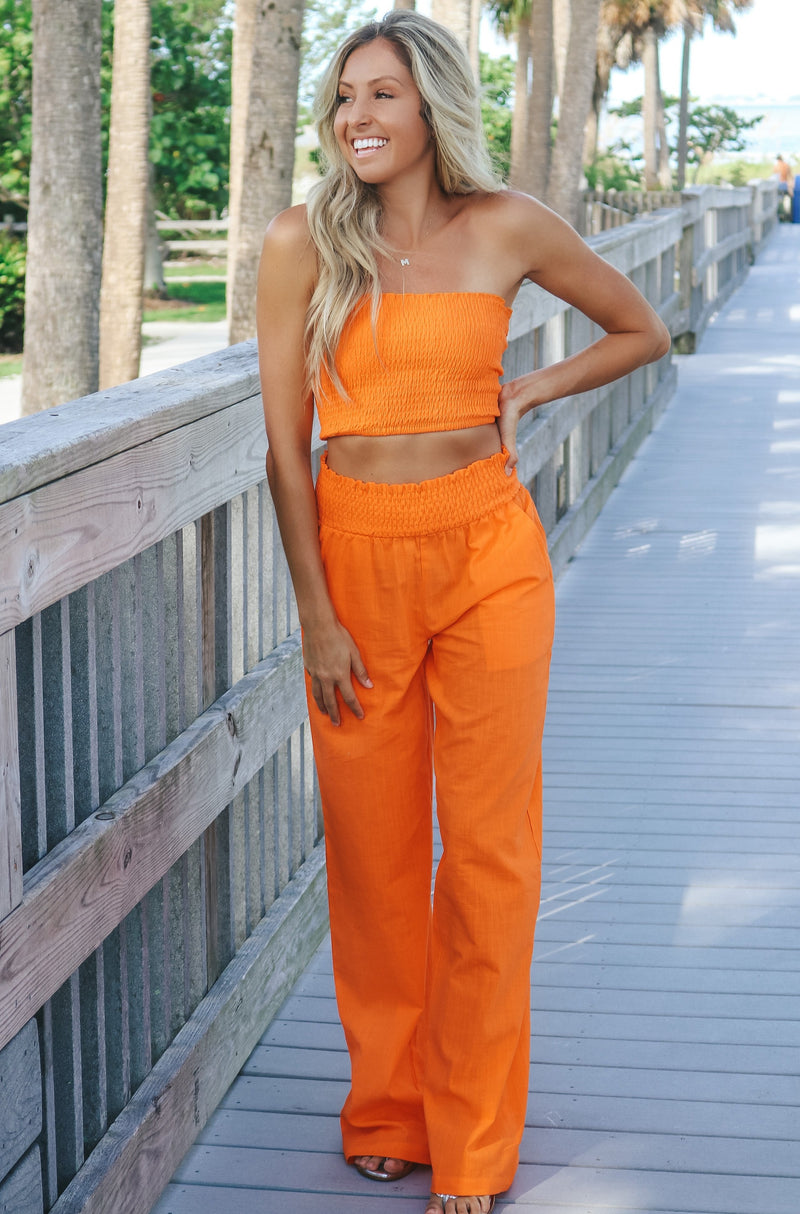 Collected Moments Pant Set - Orange