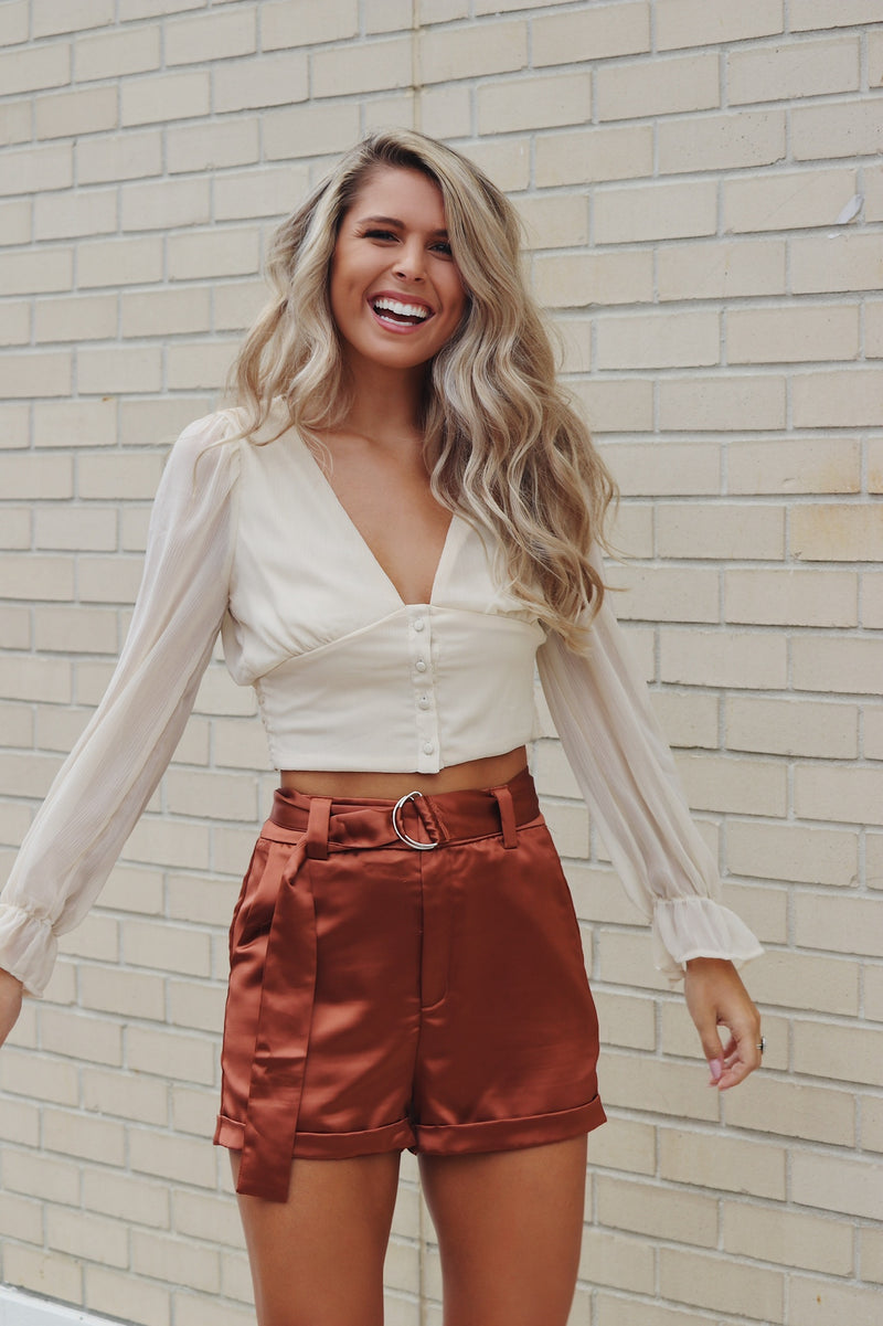 Fall Fancy Top In Ivory