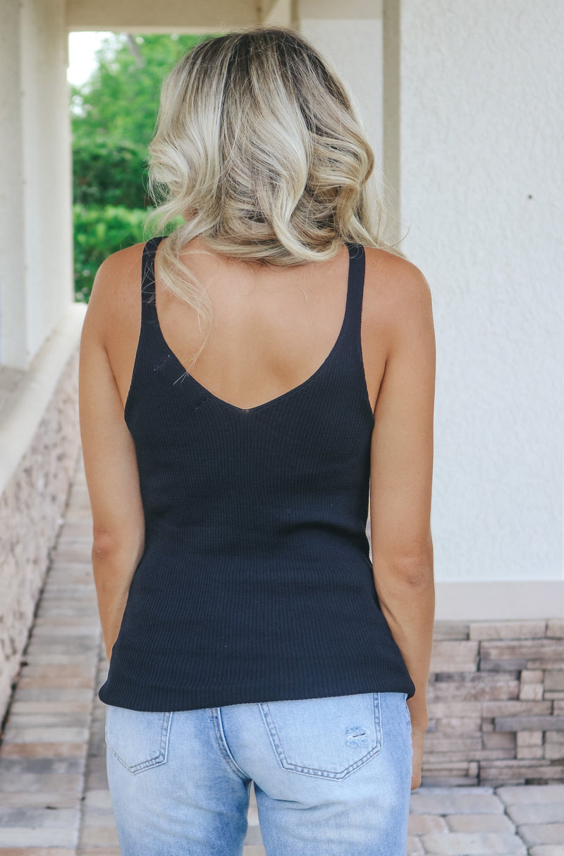 All She Needs Tank Top - Black