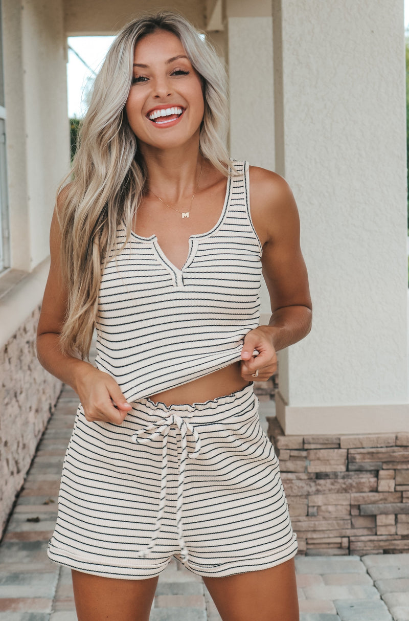 Happy At Home Set - Cream/Black
