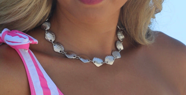 Total Beachy Shell Necklace-Silver
