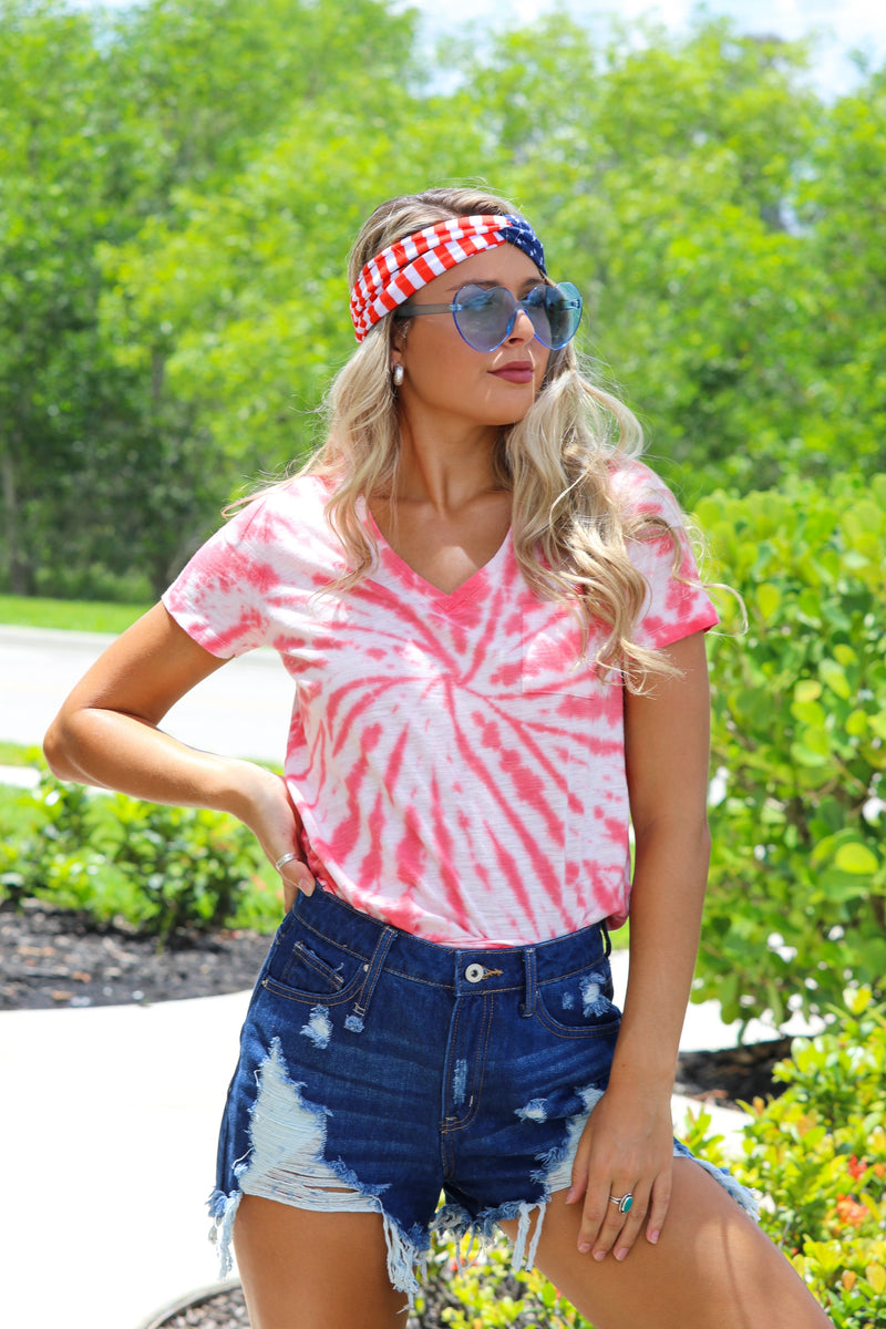 Valley Vibes Top - Coral
