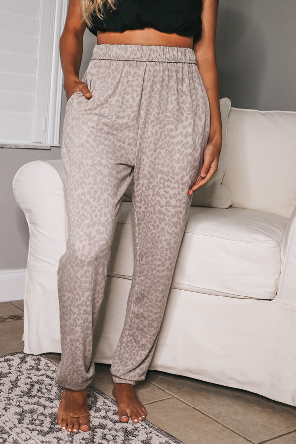 Relax And Reset Leopard Joggers