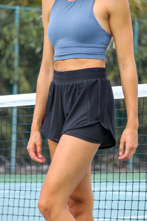 Pep In Your Step Shorts - Black