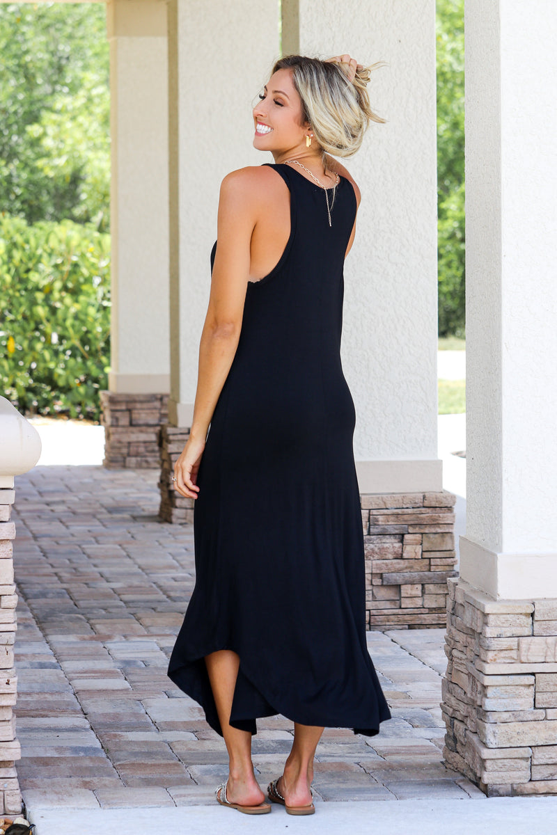 She's The Limit Black Maxi