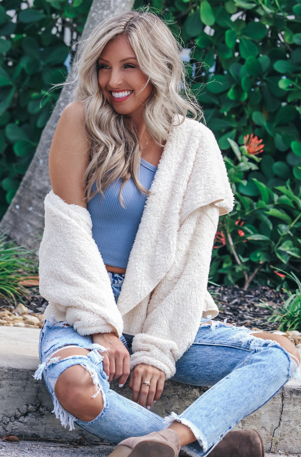 Cozy Habits Faux Fur Hoodie Jacket