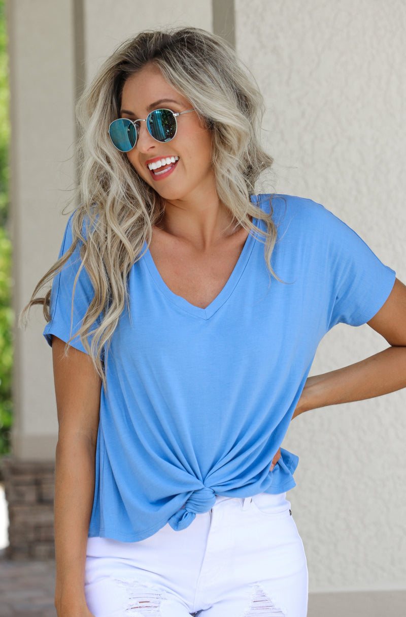Sweet And Easy Tee - Blue