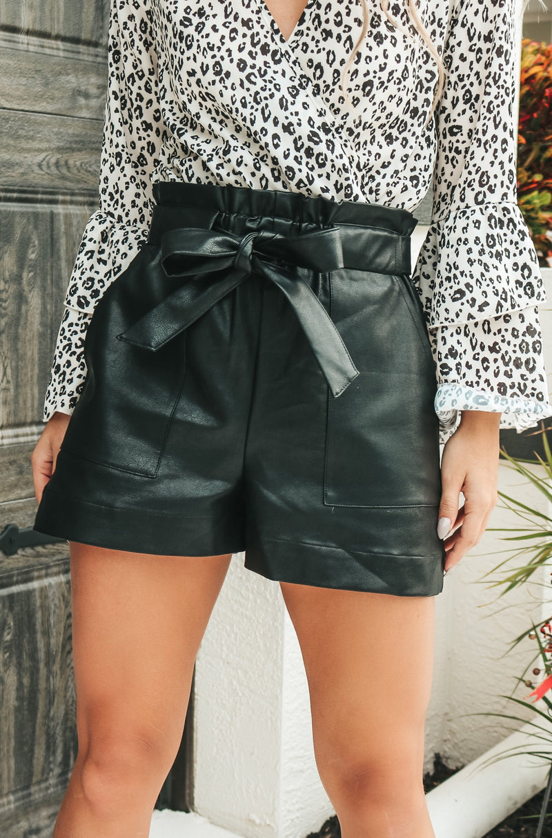 Forever Young Faux Leather Shorts