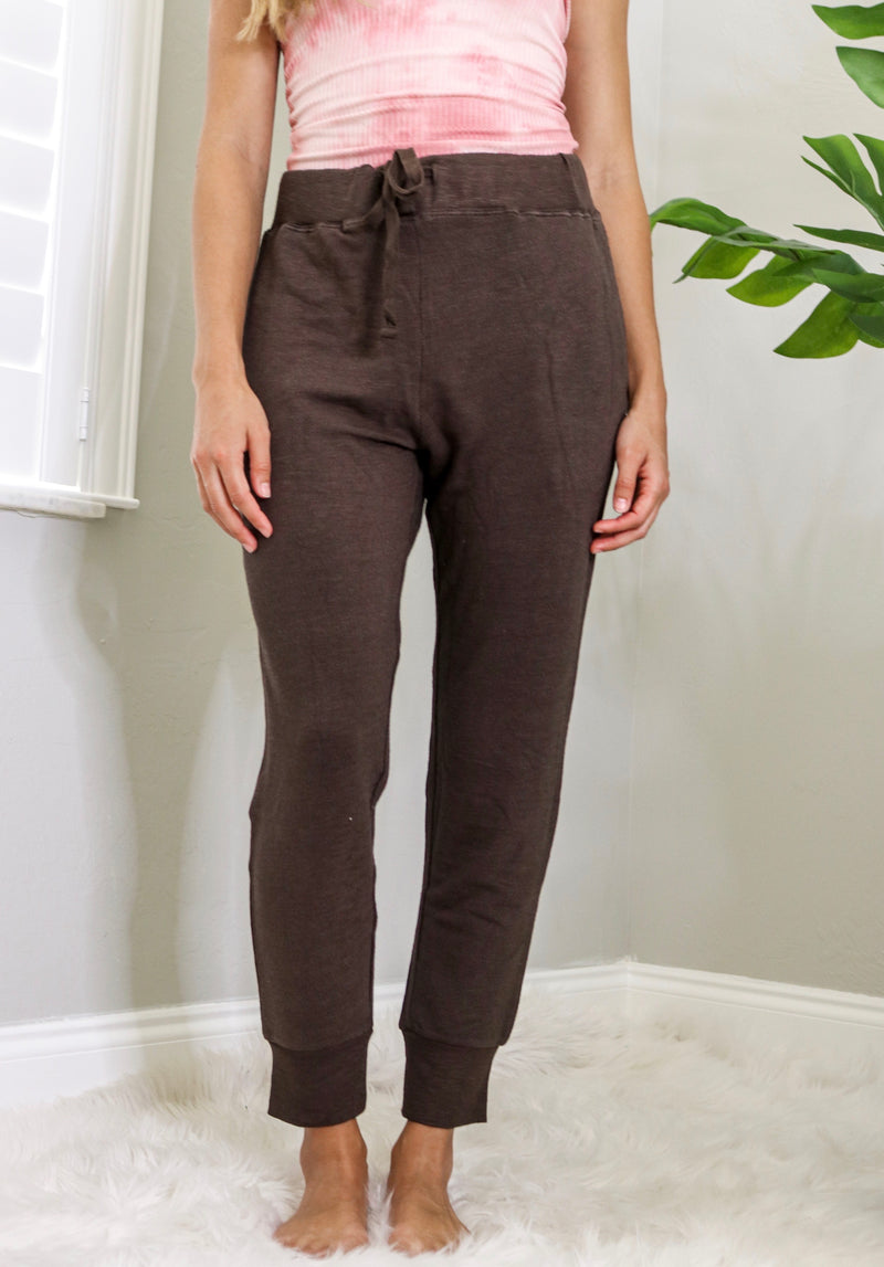 Bombshell Joggers - Brown