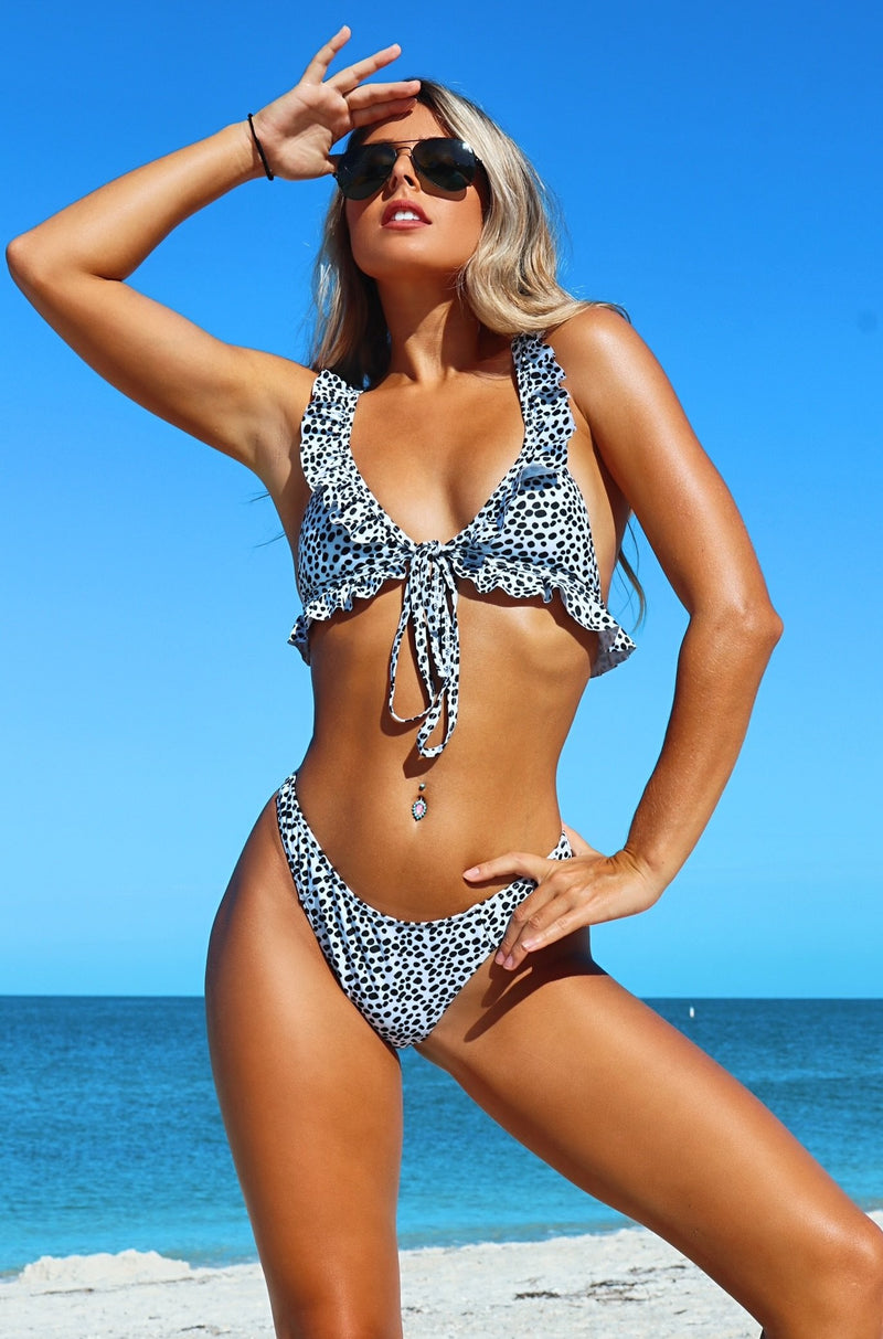 Wild Side Ruffle Bikini Set