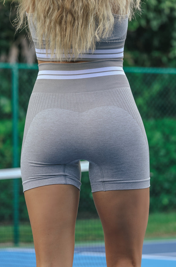 Stronger Than You Think Shorts- Grey