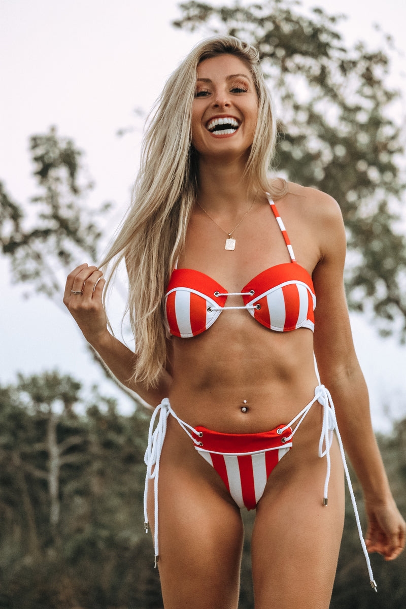 Love Island Bikini Set- Red