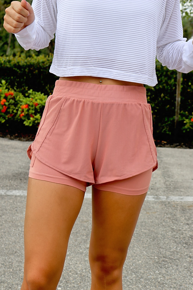 Pep In Your Step Shorts - Pink