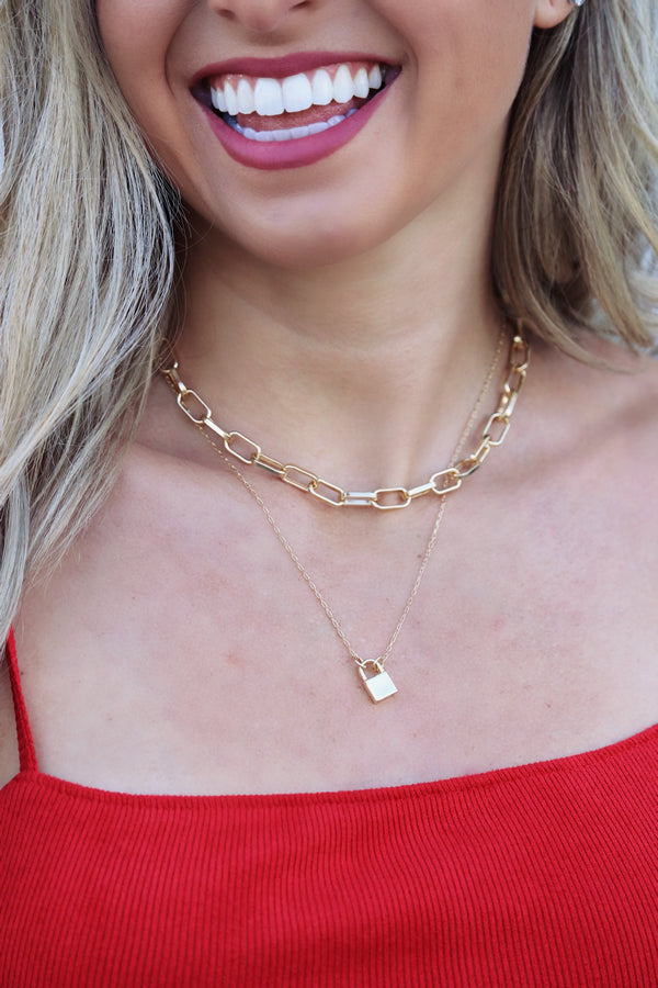 Locket Love Necklace - Gold