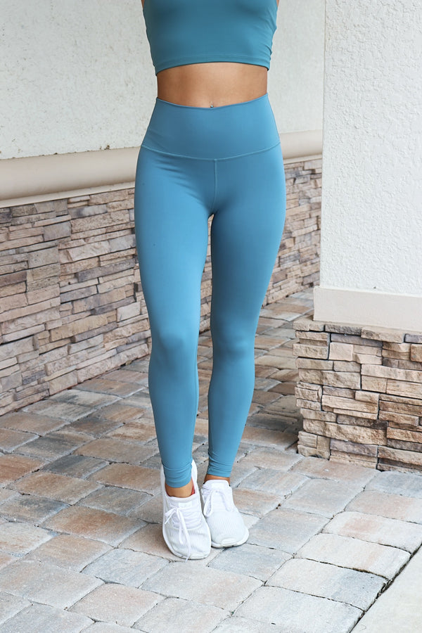 Pretty On Point Leggings- Teal
