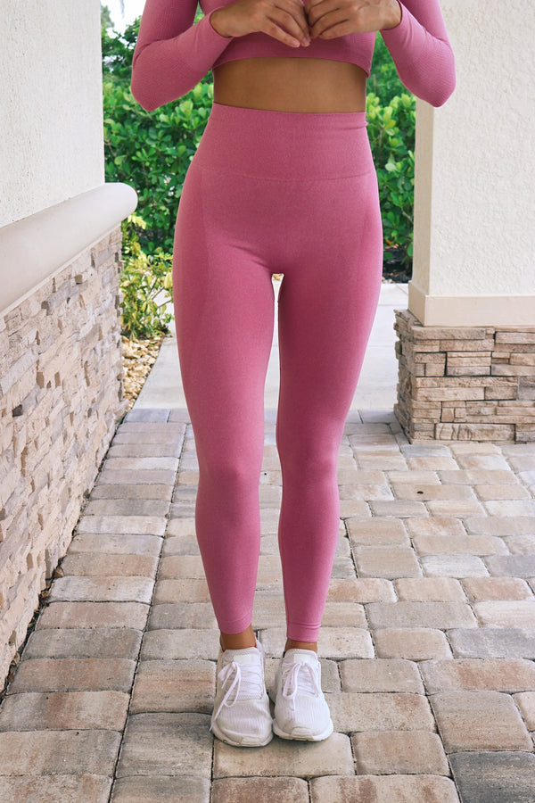 Reach For The Stars Leggings- Pink