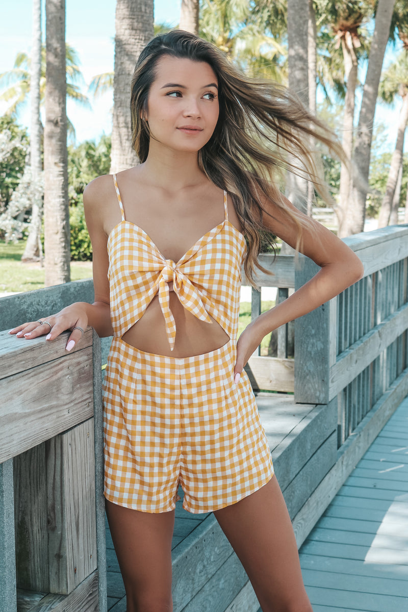 Pretty In Plaid Romper