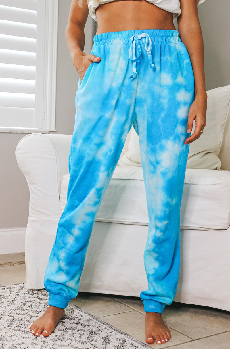 Cloud Nine Joggers - Blue