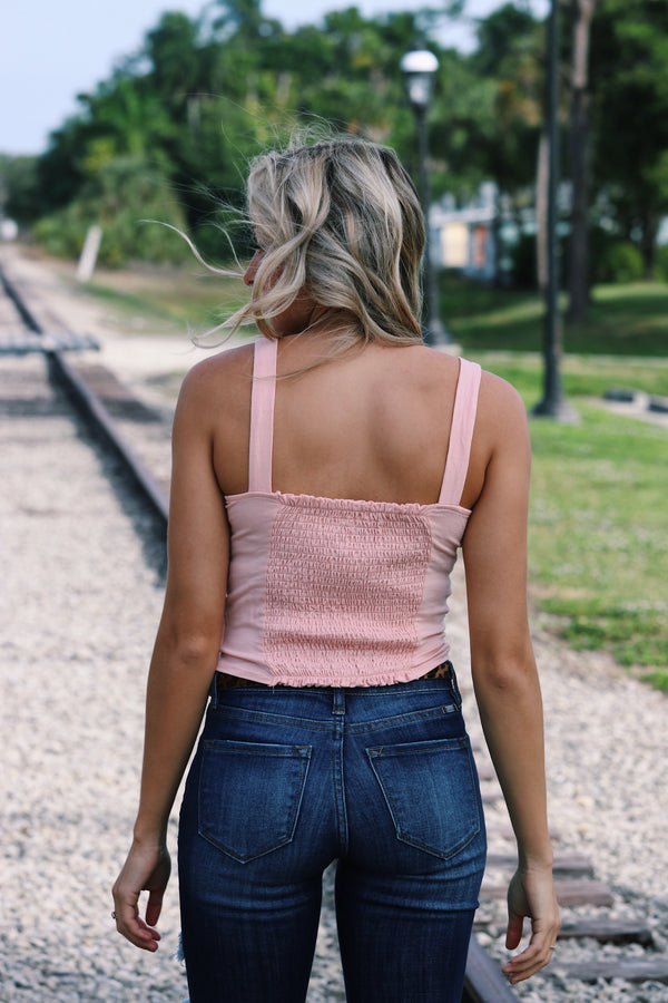 Better Off Tank In Light Pink