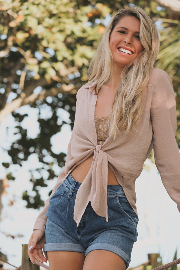 Cabo Crusin' Top- Taupe