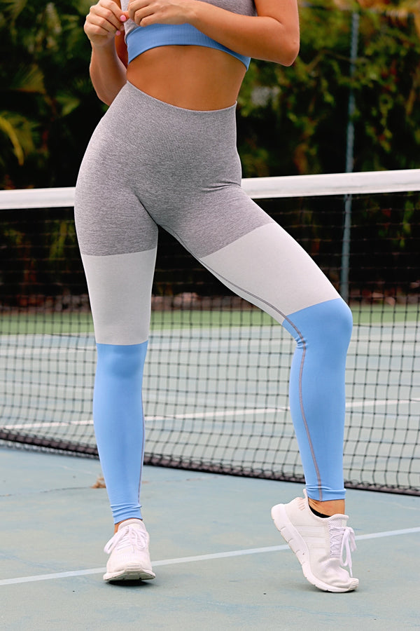 Passion For Fitness Leggings- Blue