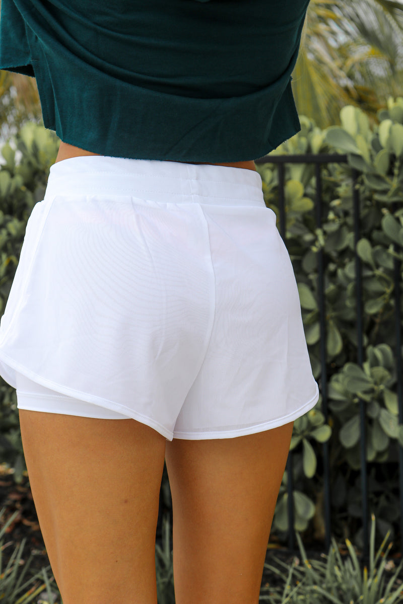 Pep In Your Step Shorts- White