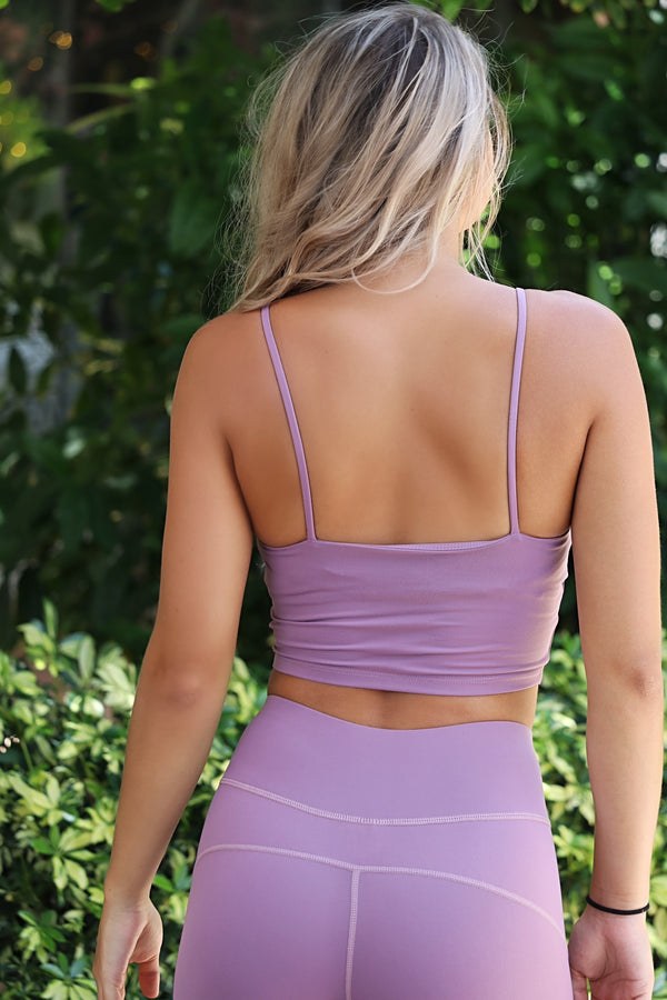 Do It For You Crop Top- Purple