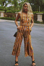 Camel Stripe Pant Suit
