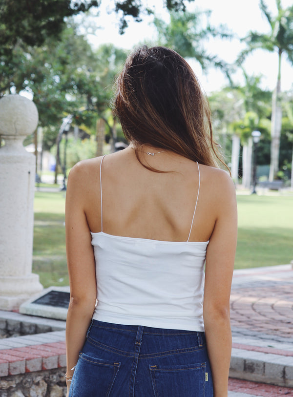 Barely Basic Cami In White