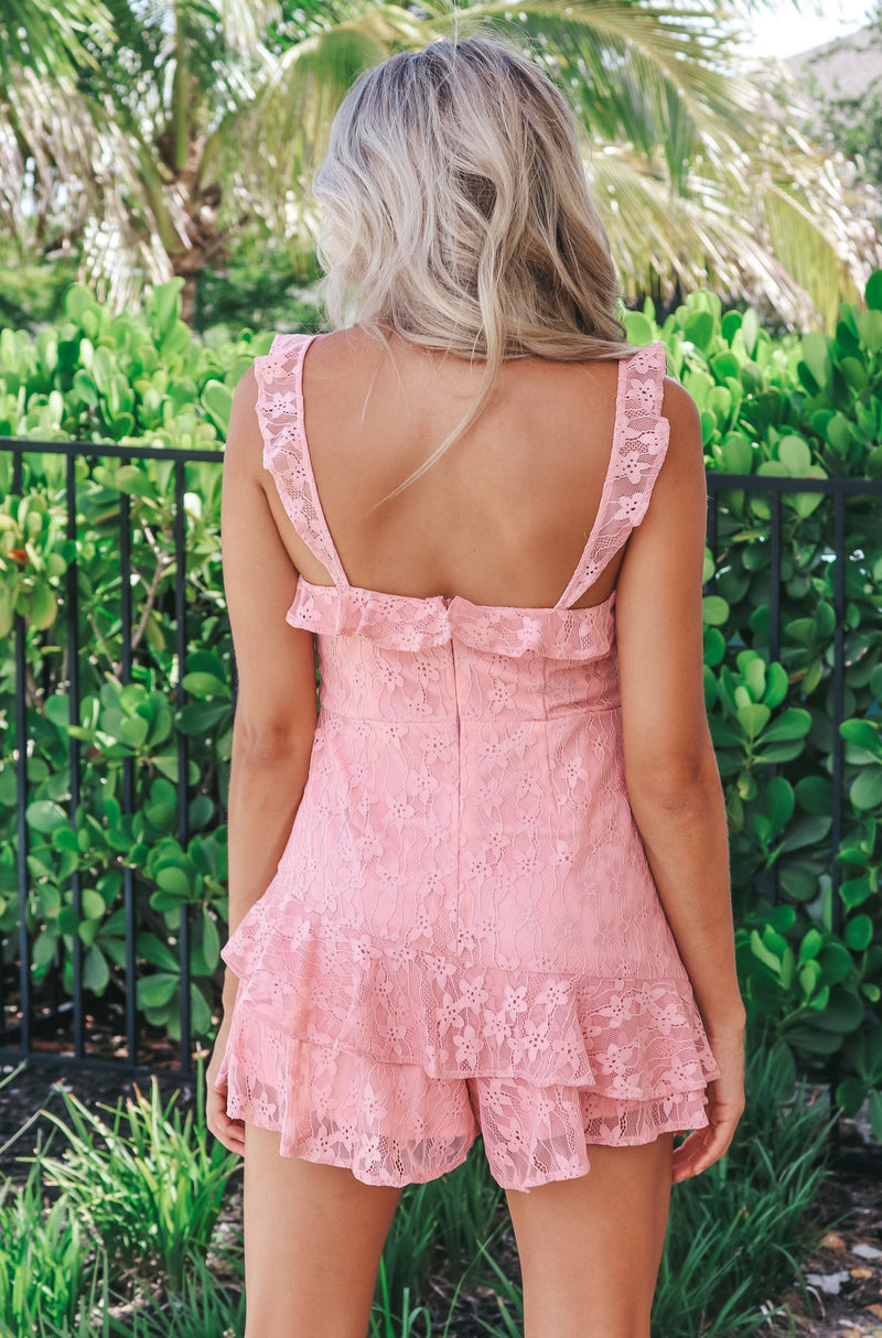 Kiss And Tell Lace Romper