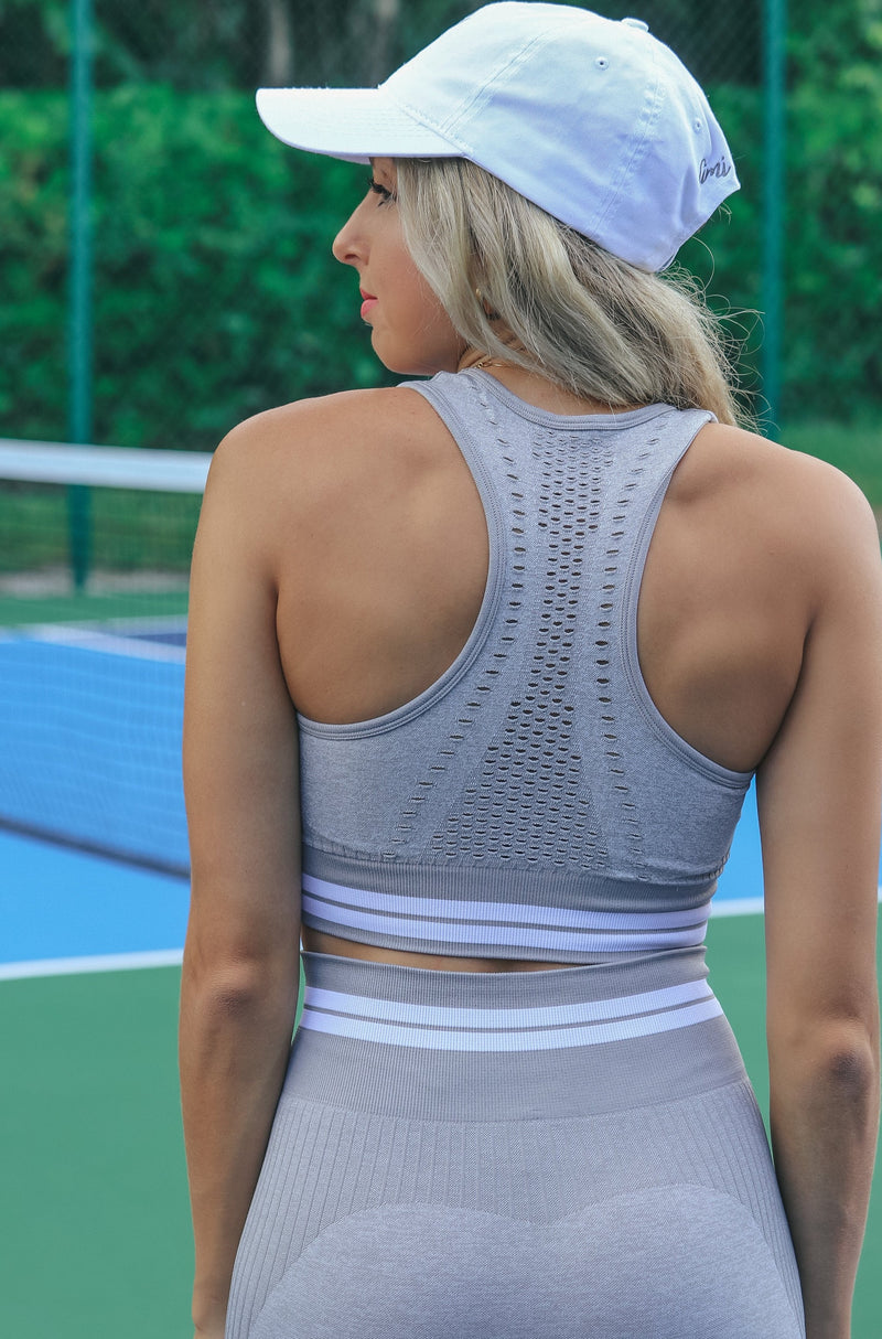 Stronger Than You Think Sports Bra - Grey