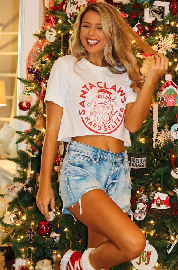 """Santa Claws"" Top"
