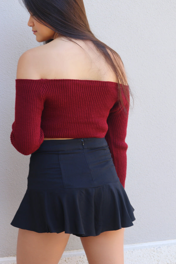 Sipping Merlot Crop Sweater