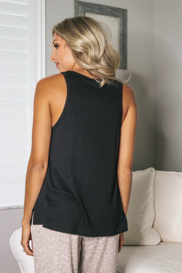 Easy Day Tank Top - Black