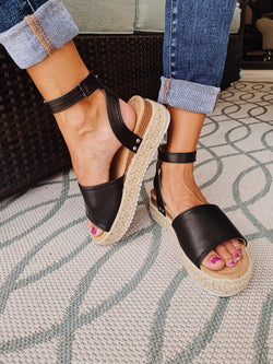 Platform Sandal In Black