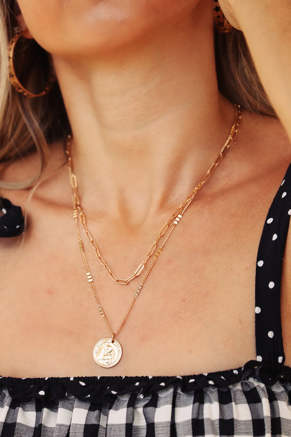 Make It Yours Gold Coin Layered Necklace