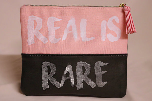 """Real Is Rare"" Makeup Bag"