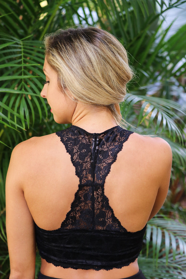 Lace Perfection Razor Back Bralette (More Colors)