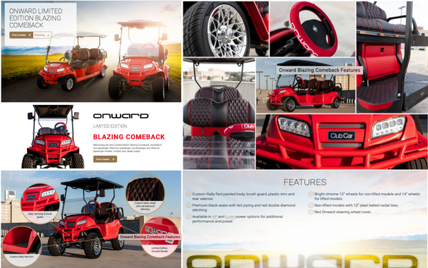 Club Car Blazing Comeback Special Edition includes Custom Onward CartSkinz