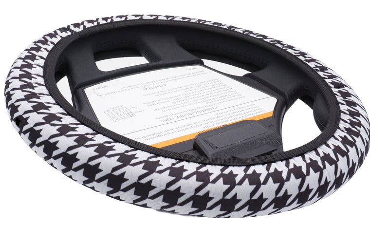 CartSkinz Houndstooth Golf Cart Steering Wheel Cover