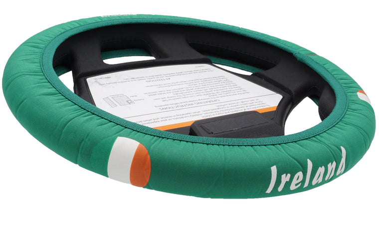 Ireland Golf Cart Steering Wheel Cover.  Club Car Golf Cart Steering Wheel Cover.   EZ-GO Golf Cart Steering Wheel Cover.   Yamaha Golf Cart Steering Wheel Cover.  Car Steering Wheel Cover.  ATV Steering Wheel Cover.  Boat Steering Wheel Cover.