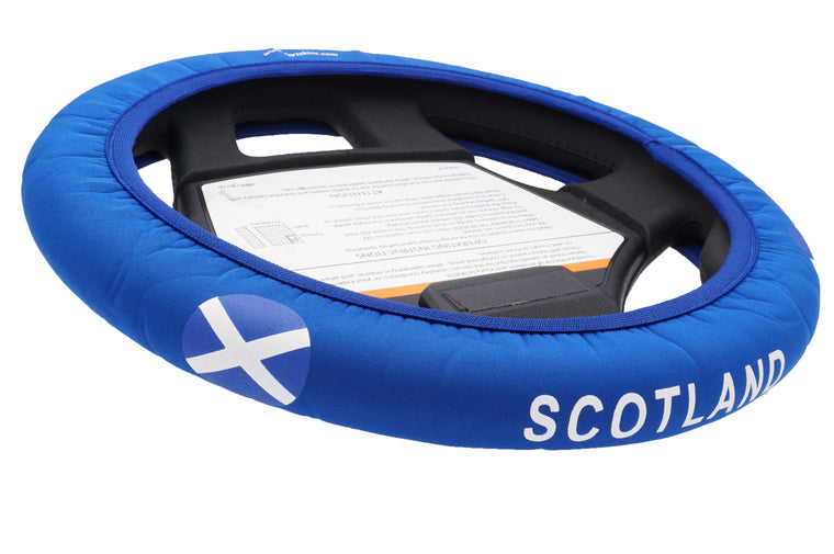 Scotland Golf Cart Steering Wheel Cover.  Club Car Golf Cart Steering Wheel Cover.   EZ-GO Golf Cart Steering Wheel Cover.   Yamaha Golf Cart Steering Wheel Cover.  Car Steering Wheel Cover.  ATV Steering Wheel Cover.  Boat Steering Wheel Cover.