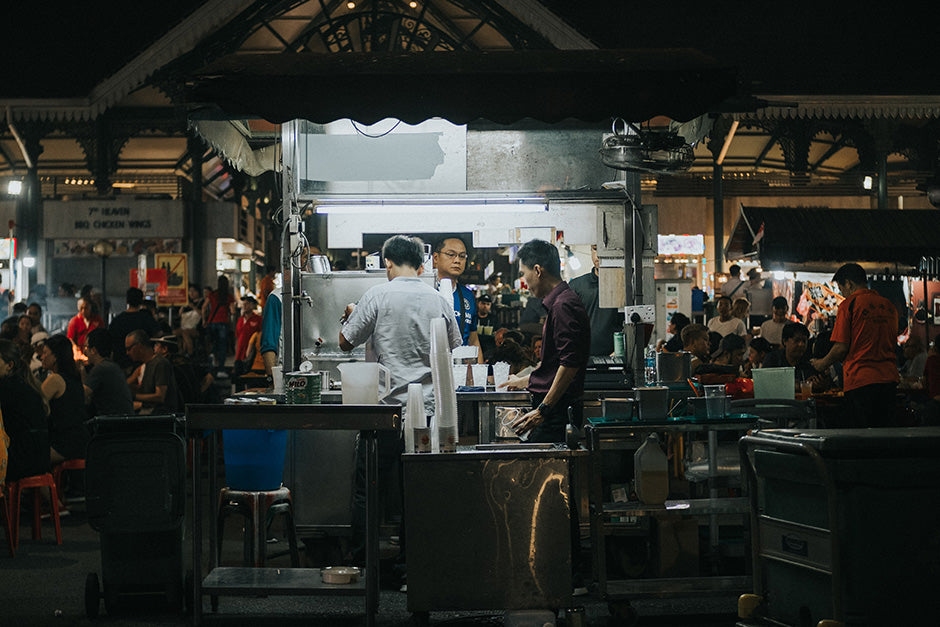 Singapore hawker center how to order