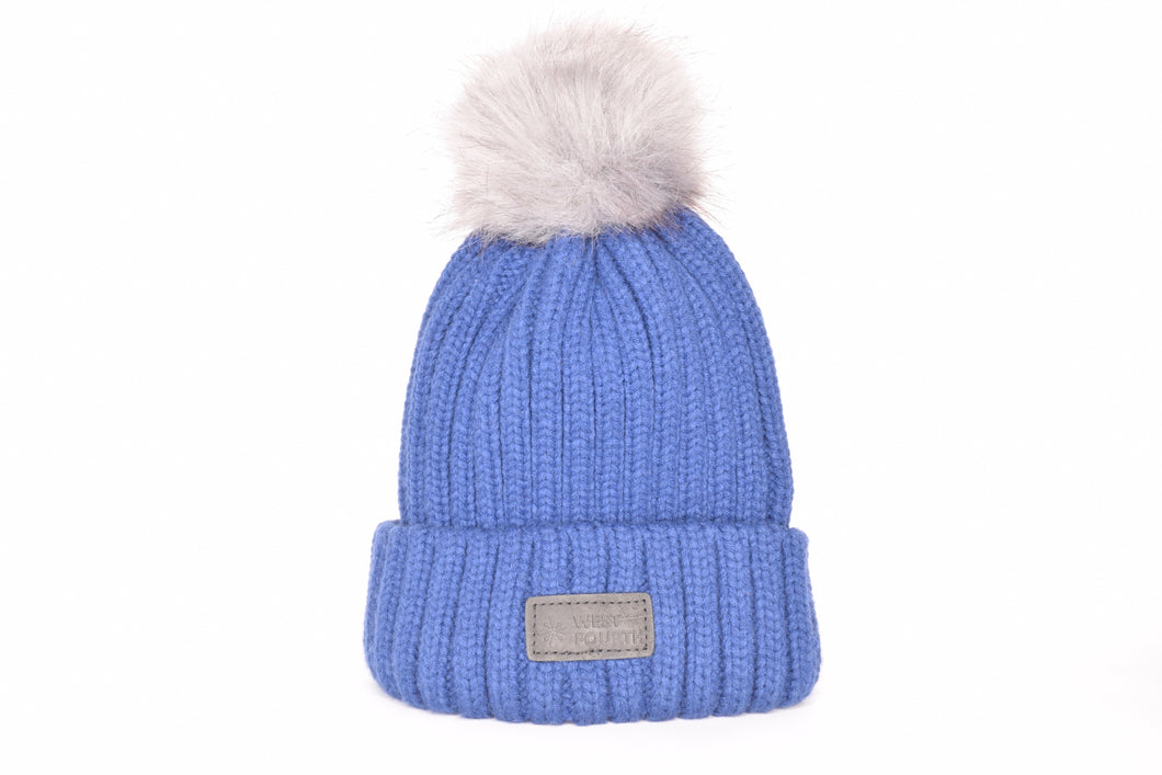 Bleecker Blue - Grey Pom