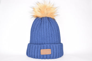 Bleecker Blue - Tan Pom