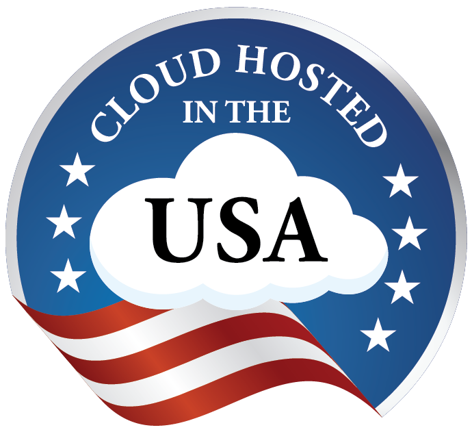 Cloud Hosted in the USA Logo