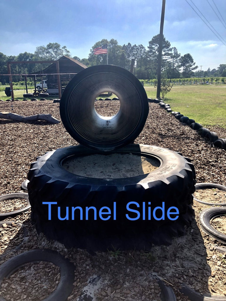 South Georgia playground tunnel slide