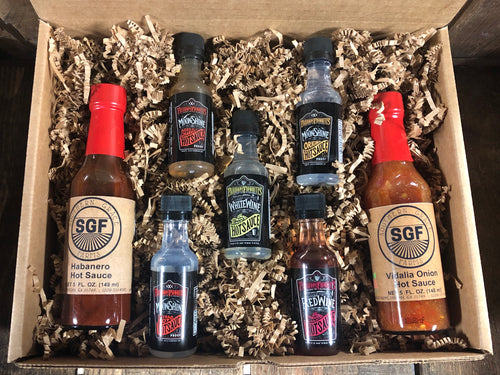 Hot Sauce Sampler Gift Box