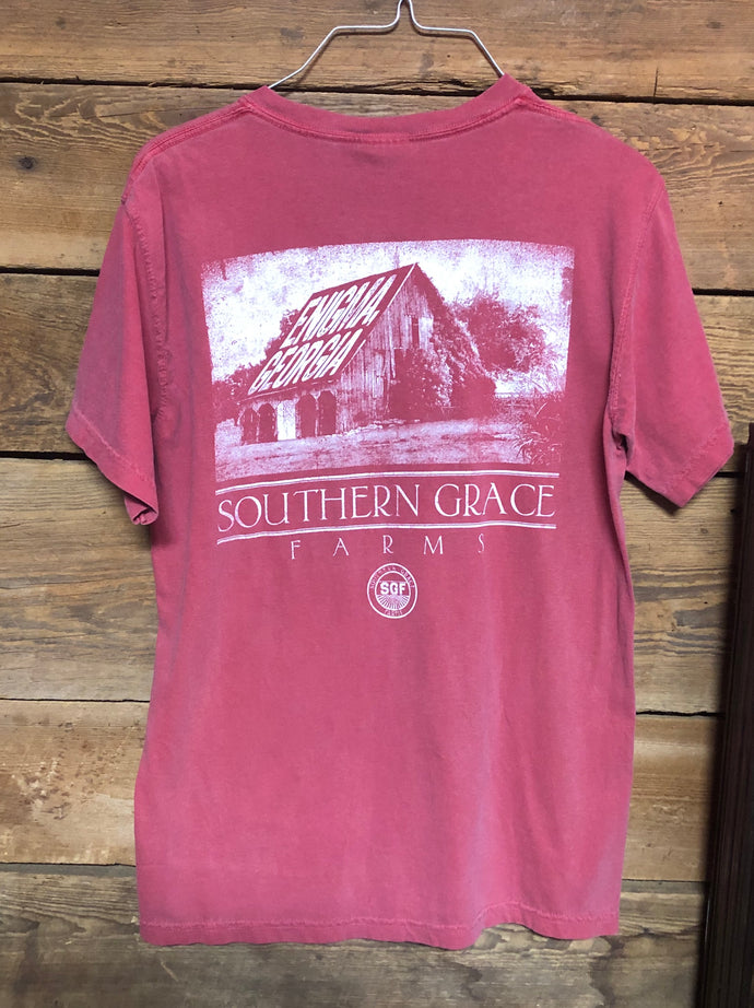 Southern Grace Farms Shirt Old Barn Crimson
