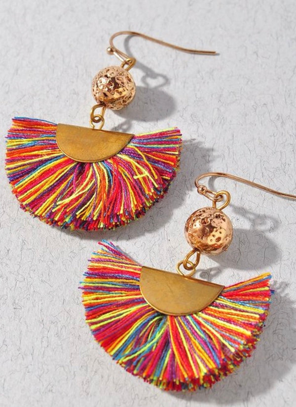 Assorted Fine Thread Fan Earrings